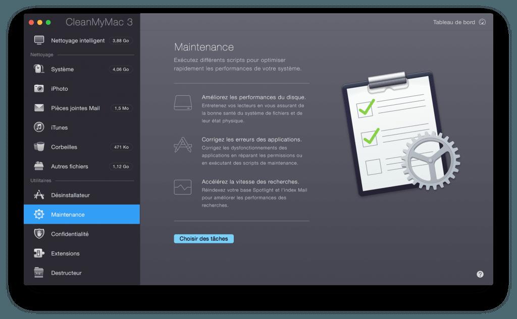 Nettoyer son MacBook script maintenance