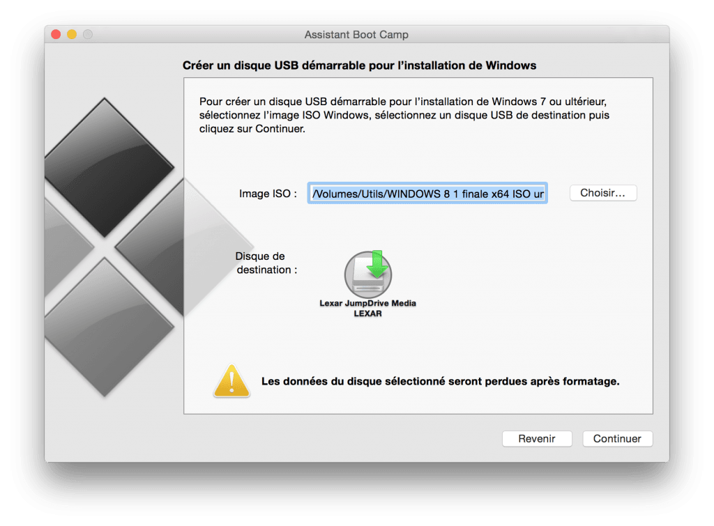 macbook dual boot disque usb