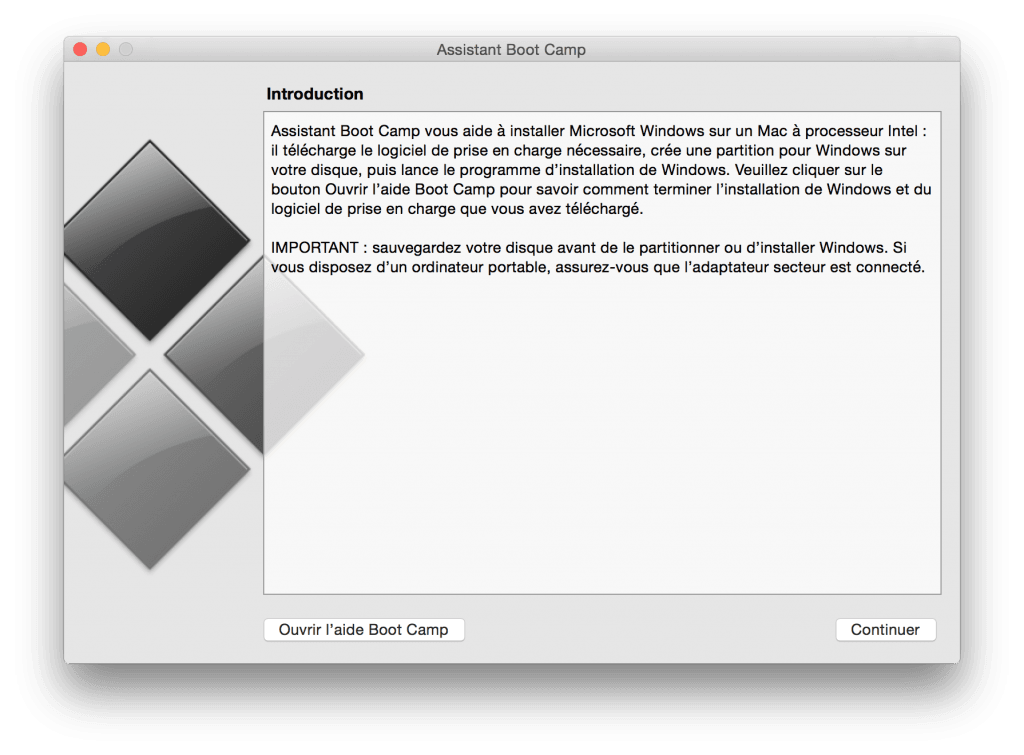 macbook dual boot lancer boot camp