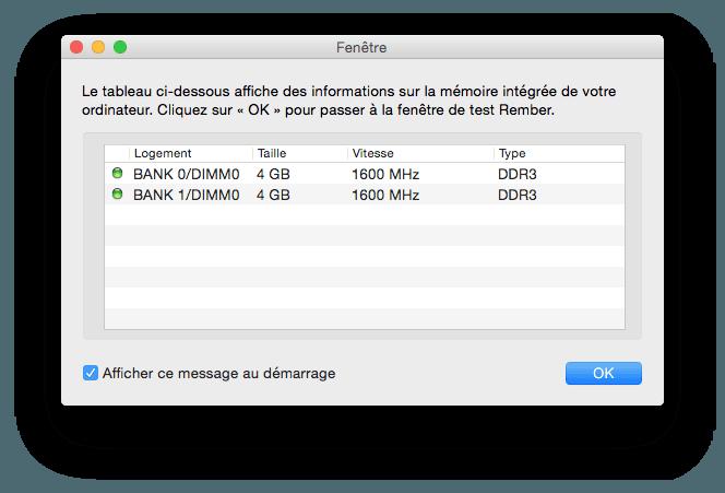 macbook memoire rember identifier la ram