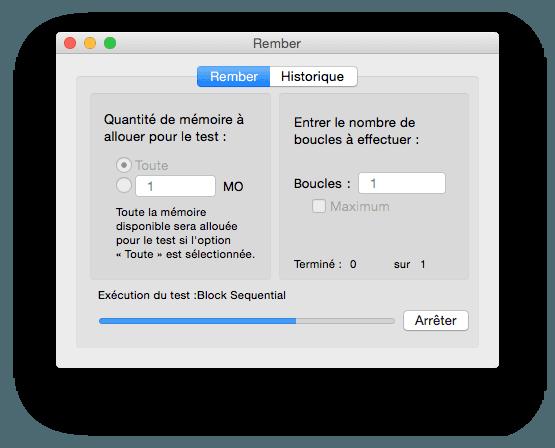 macbook memoire rember test