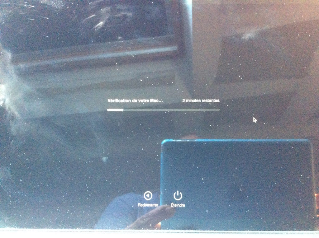 macbook probleme batterie verification en cours