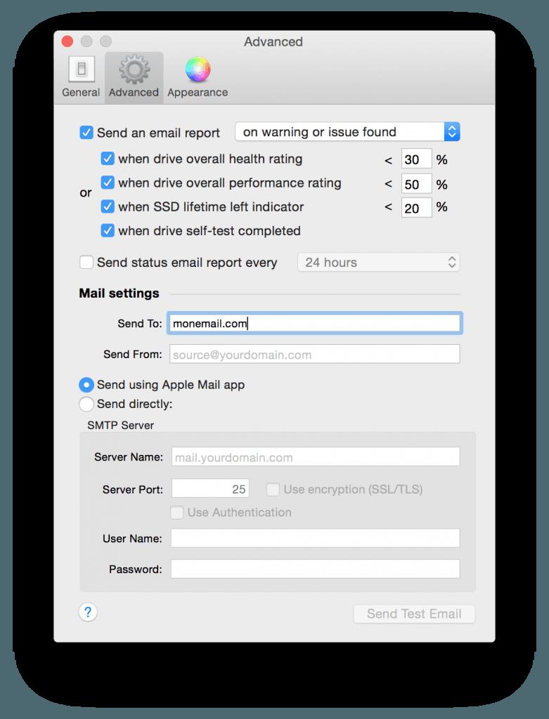 macbook ssd recevoir alertes