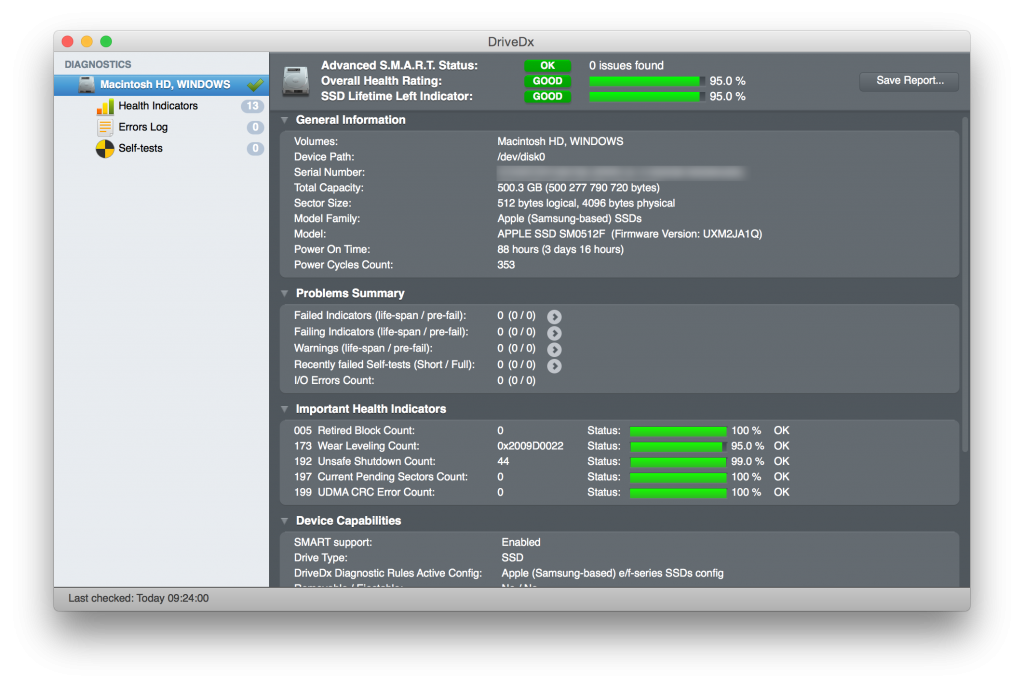 macbook ssd smart status