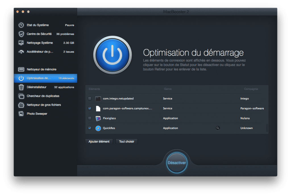 optimiser son macbook demarrage