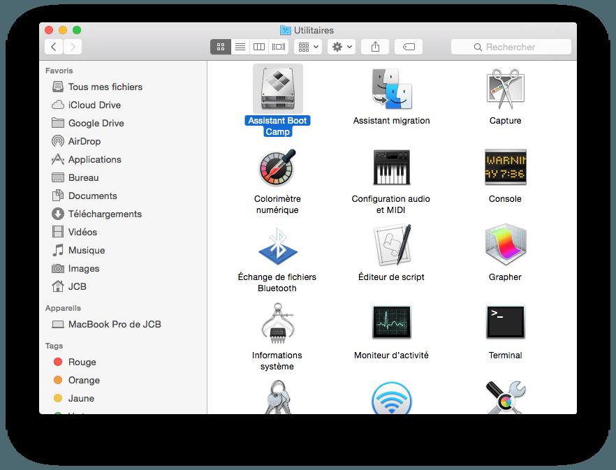 Installer Windows 10 sur MacBook boot camp