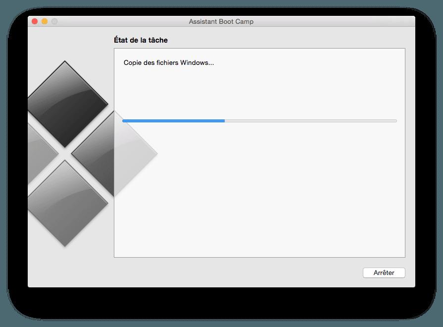 Installer Windows 10 sur MacBook formatage cle usb