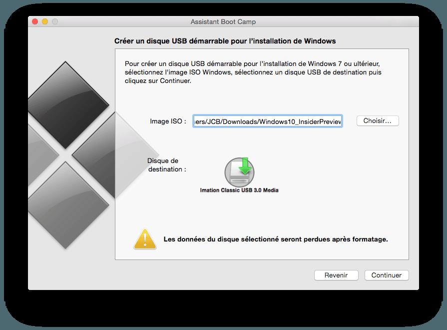 Installer Windows 10 sur MacBook pro