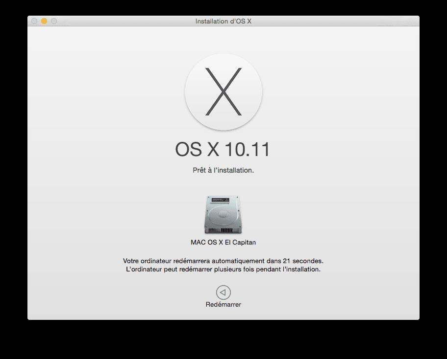 Mac OS X El Capitan installer