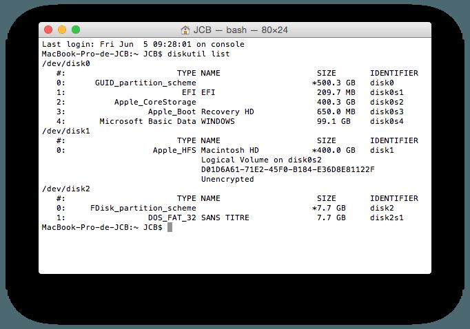 MacBook triple boot disk util list