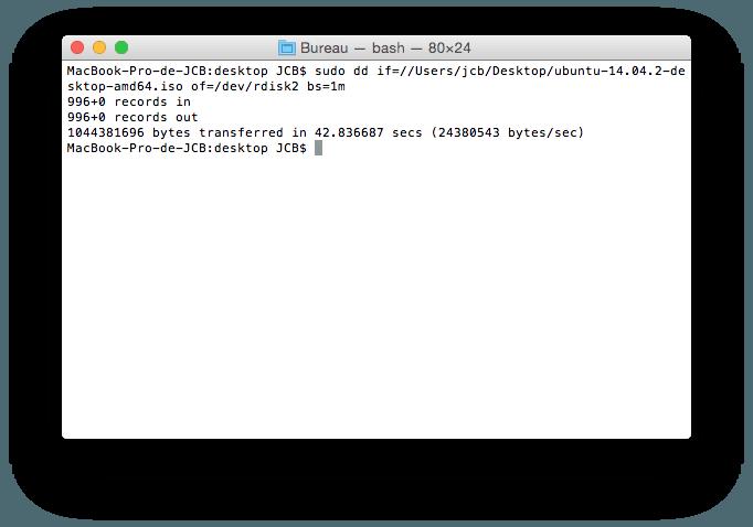 MacBook triple boot transfert ubuntu