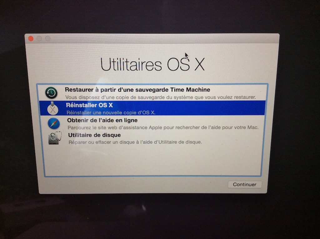 formater son macbook reinstaller os x