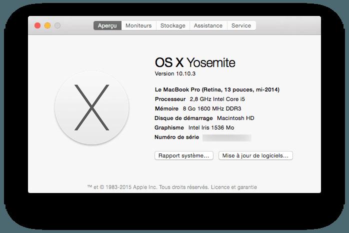 macbook firmware connaitre son modele de macbook