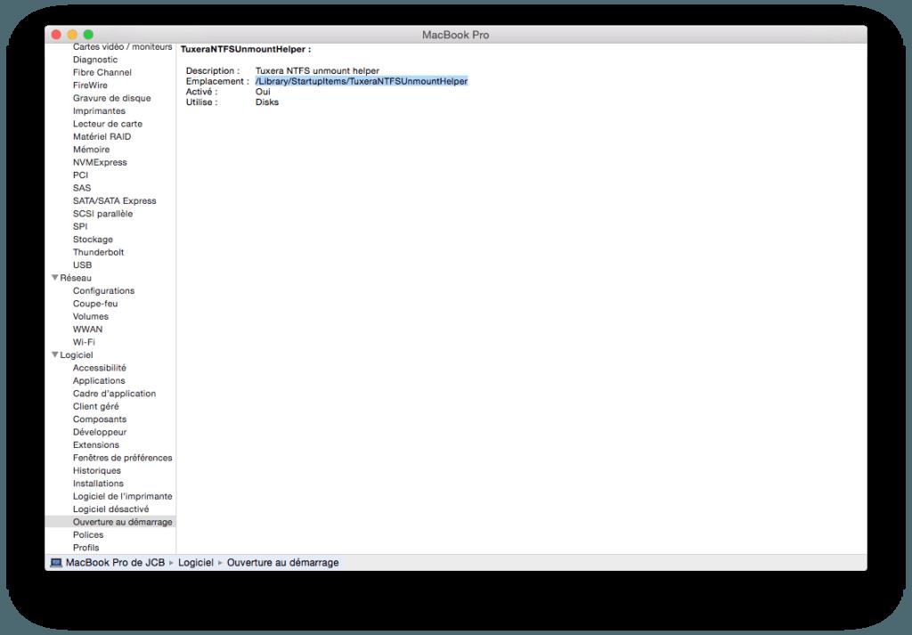 macbook pro ouverture au demarrage