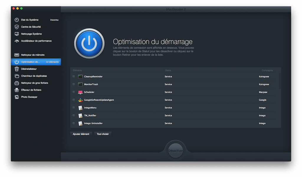 macbook pro retina air optimiser demarrage macbooster