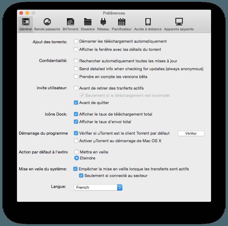 macbook pro utorrent demarrage automatique
