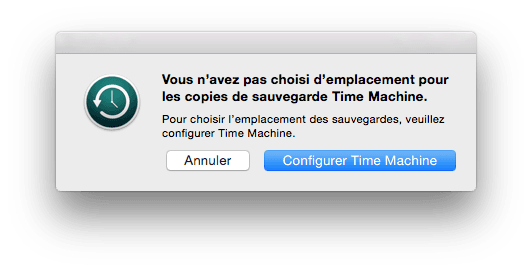 time machine configuration
