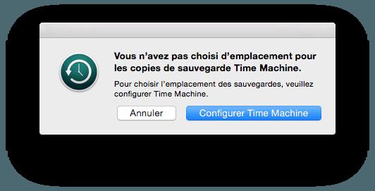 time machine configuration