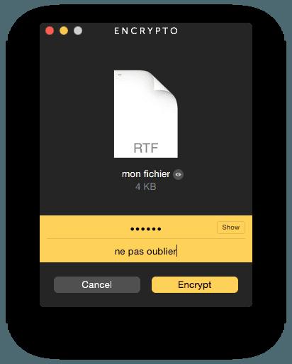 Crypter un fichier sur MacBook avec un mot de passe