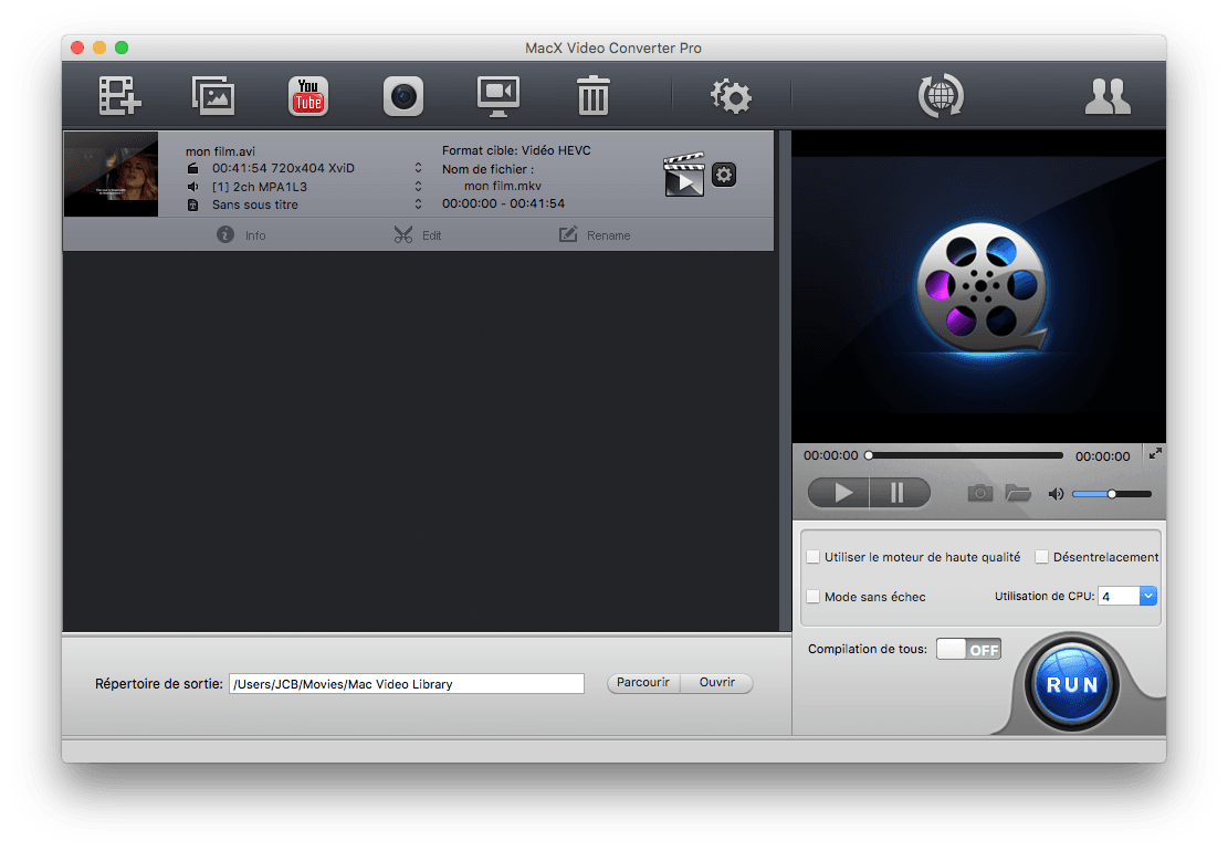 hevc h265 macx video converter