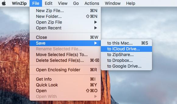 Decompresser les ZIP sur Mac sur icloud drive