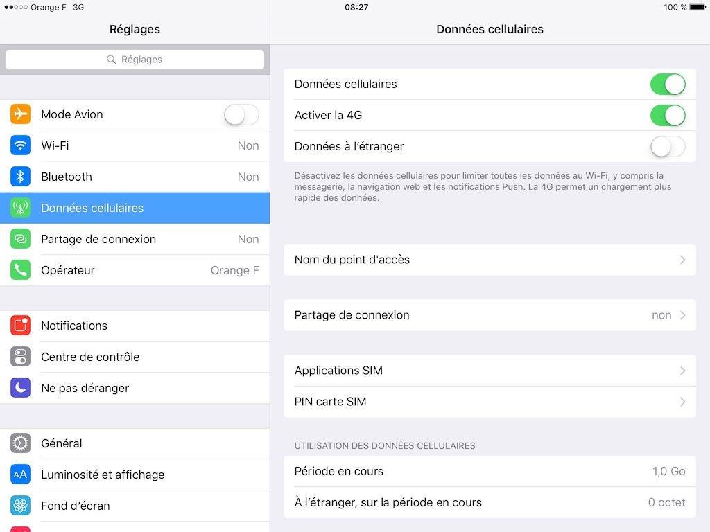 Partage de connexion Internet iPhone macbook activer donnees cellulaires