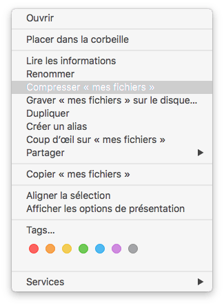 decompresser les zip sur mac compression