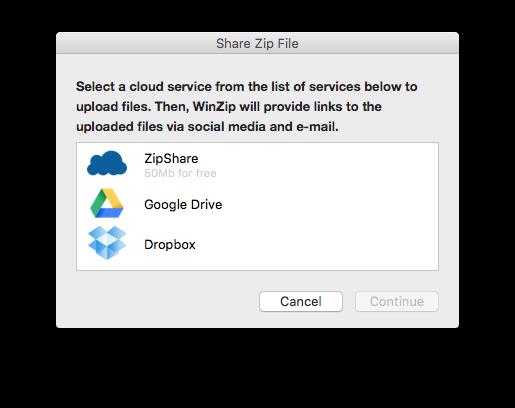 decompresser les zip sur mac via le cloud