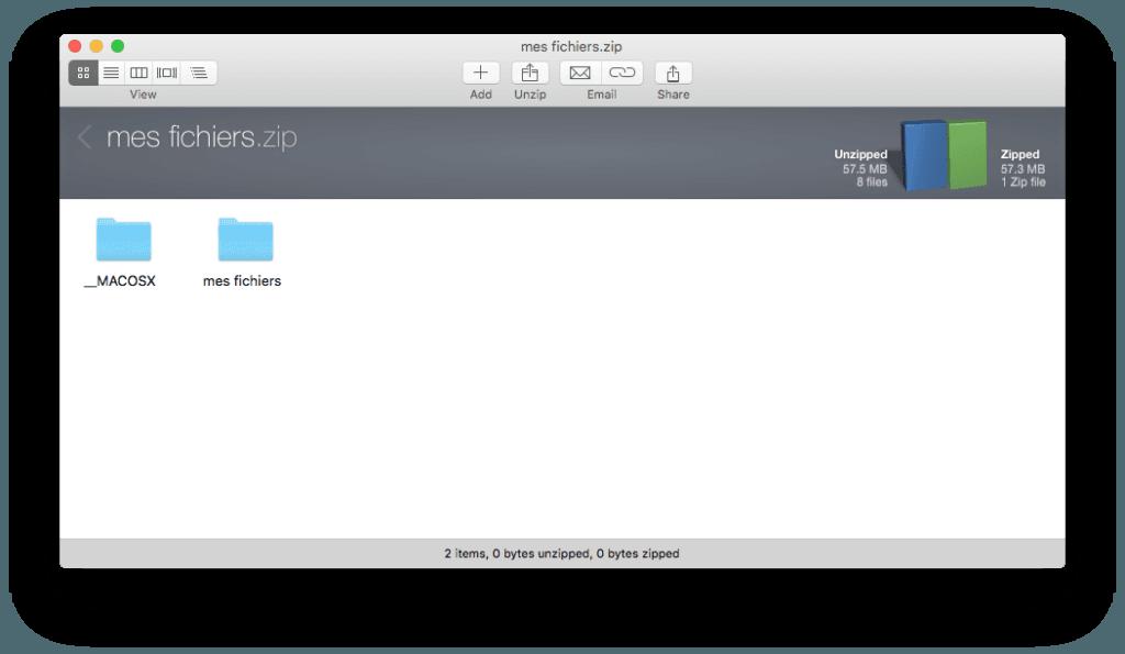 decompresser les zip sur mac winzip mac