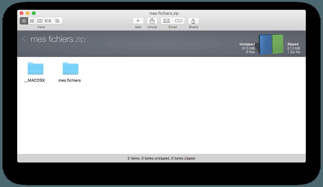 ouvrir un fichier zip pour mac