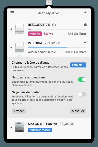 Nettoyer une cle USB sur mac nettoyage automatique