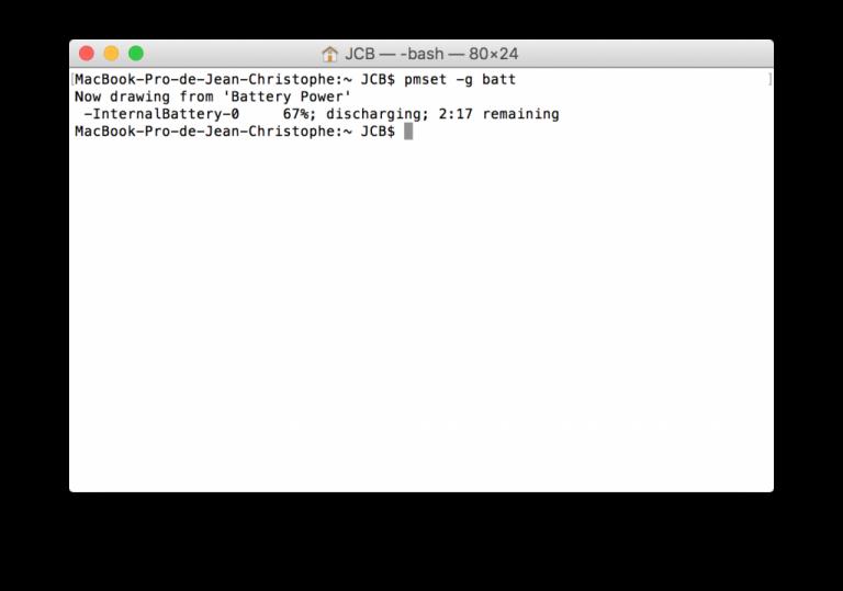 macbook batterie dechargement en cours actif