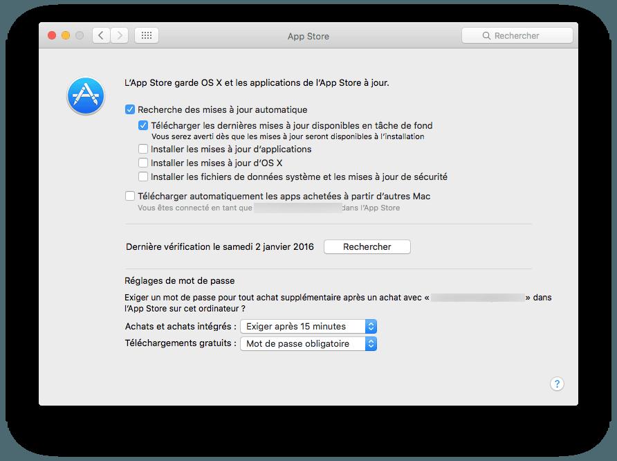 mac app store configuration manuelle