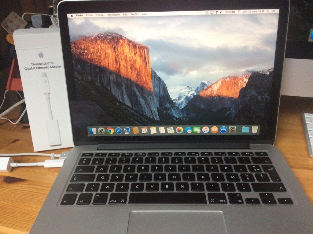ajouter un port Ethernet au MacBook pro retina