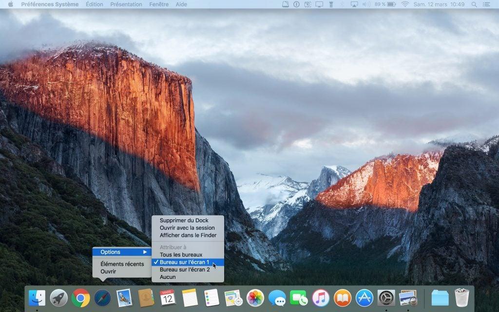 connexion macbook television envoyer sur bureau ecran 1 ou ecran 2