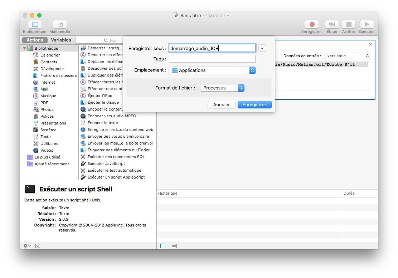 demarrer son Mac en musique enregistrer fichier