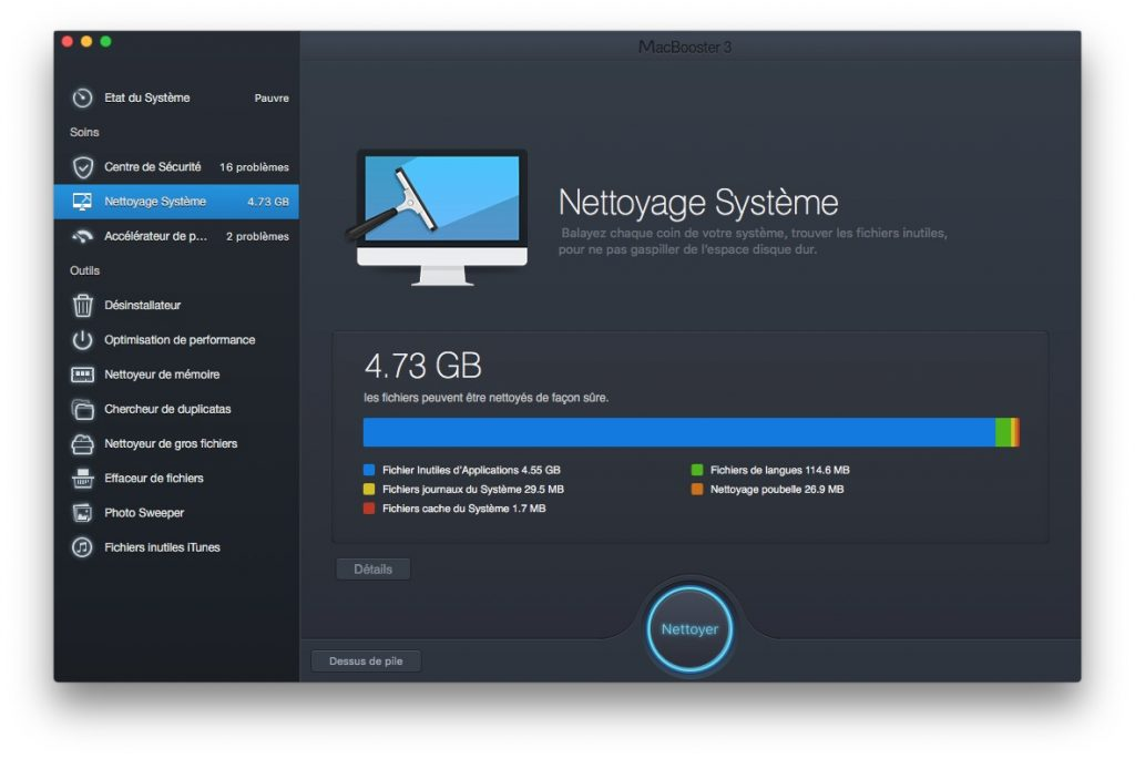 booster son macbook nettoyage os x