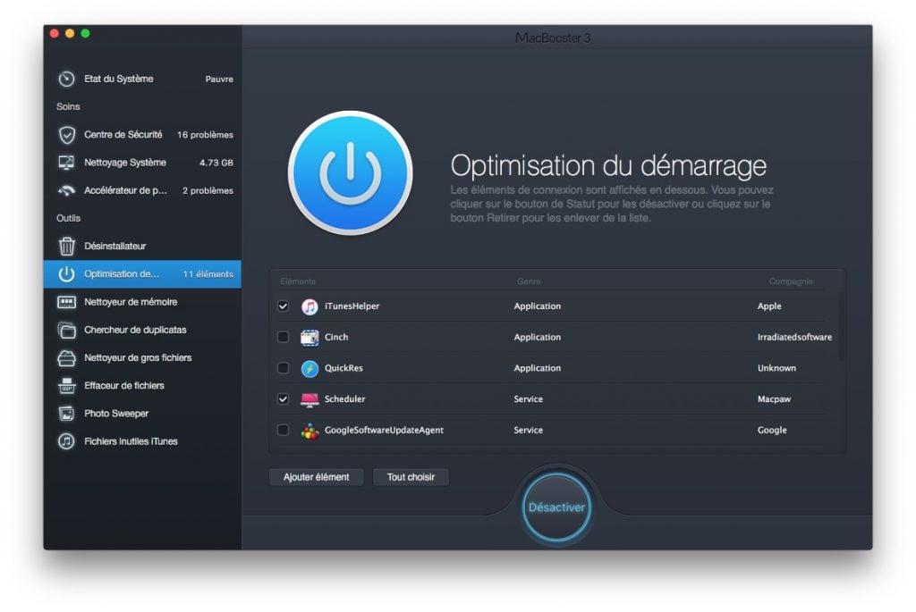 booster son macbook optimisation du demarrage