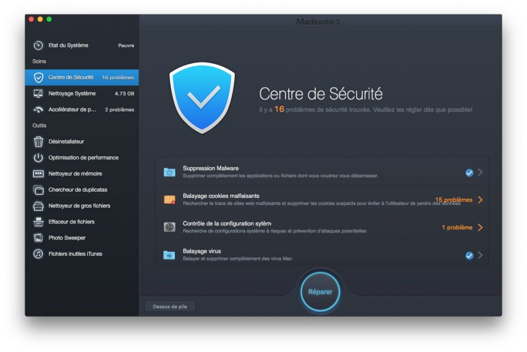 booster son macbook securite