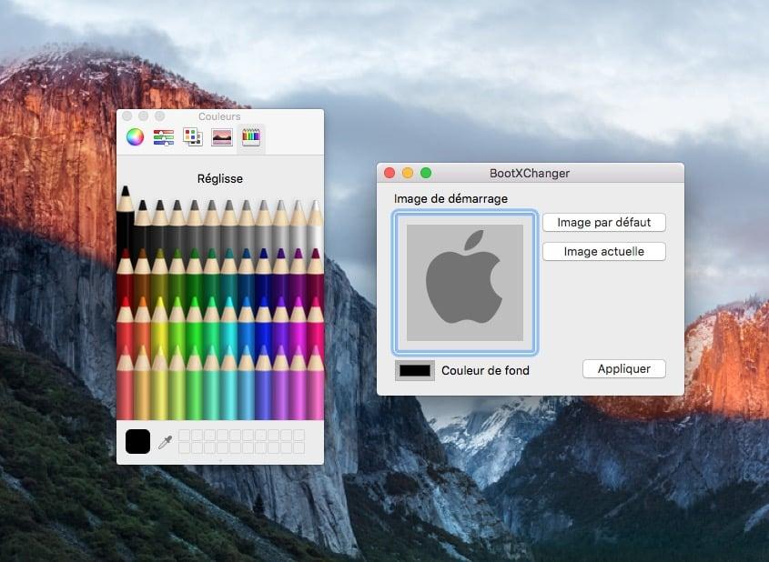 changer la couleur du boot mac couleur de fond