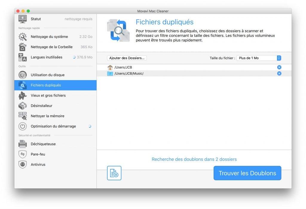 optimisation macbook doublons