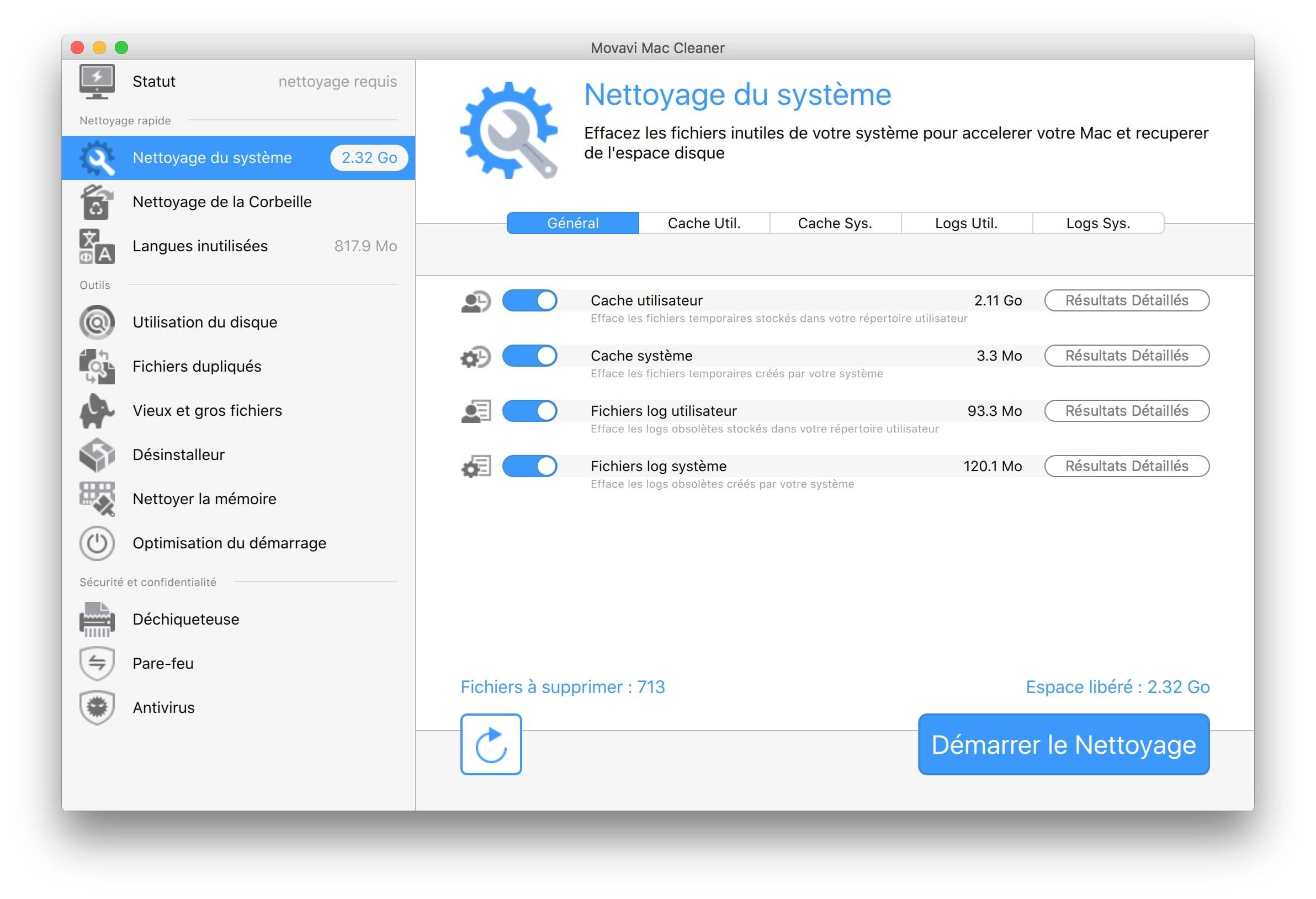 optimisation macbook nettoyage systeme