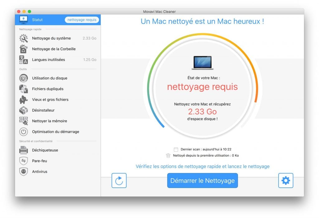 optimisation macbook statut automatique