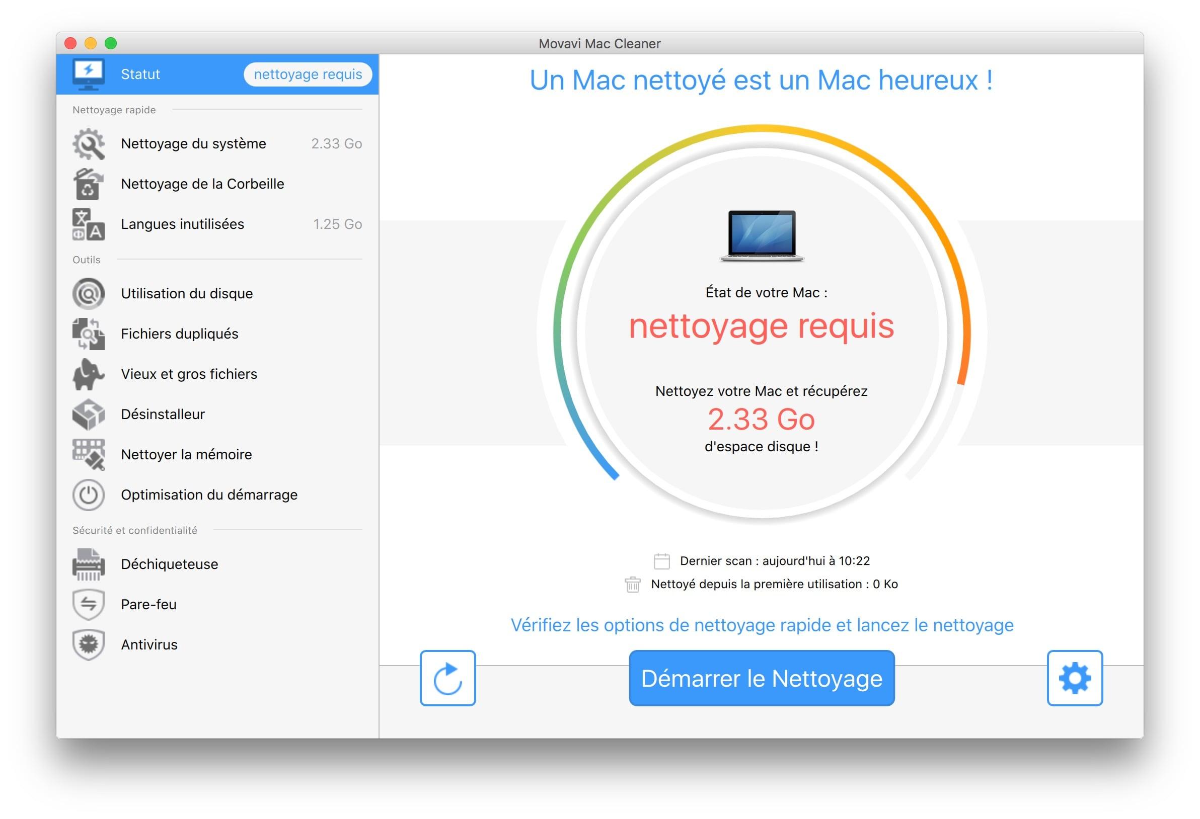 optimisation macbook statut automatique