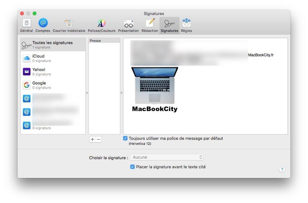 Ajouter un logo sur sa signature Apple Mail ajouter logo