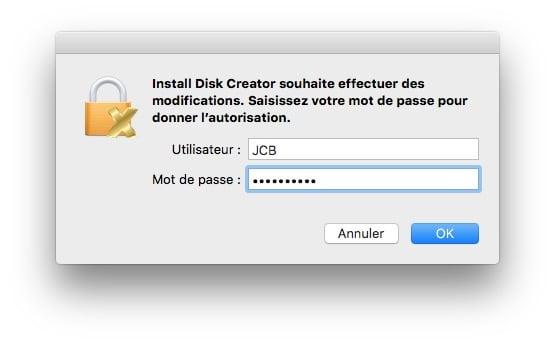 cle USB bootable macOS Sierra create installer