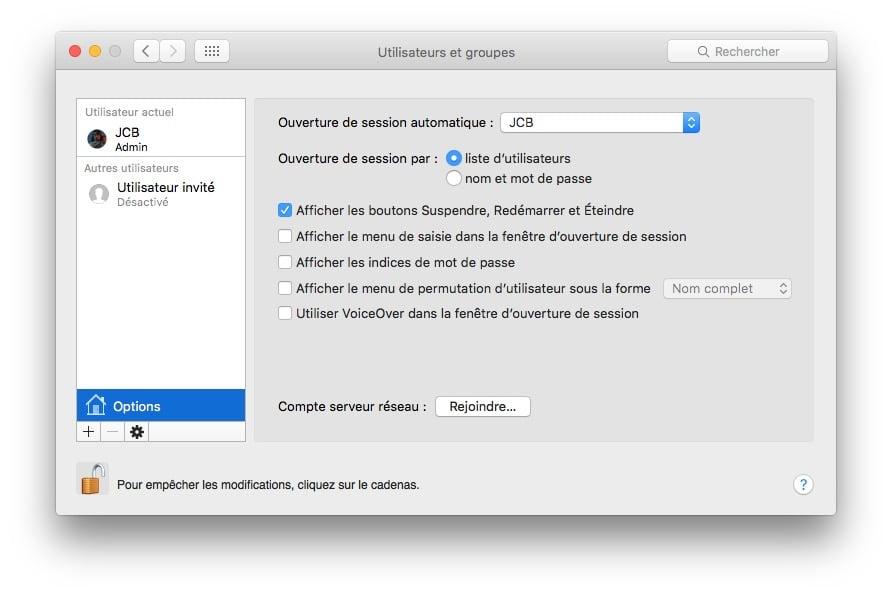 ouvrir son mac sans mot de passe automatiquement