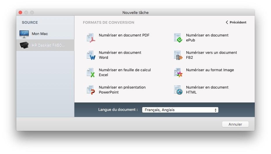 scanner sur mac avec finereader