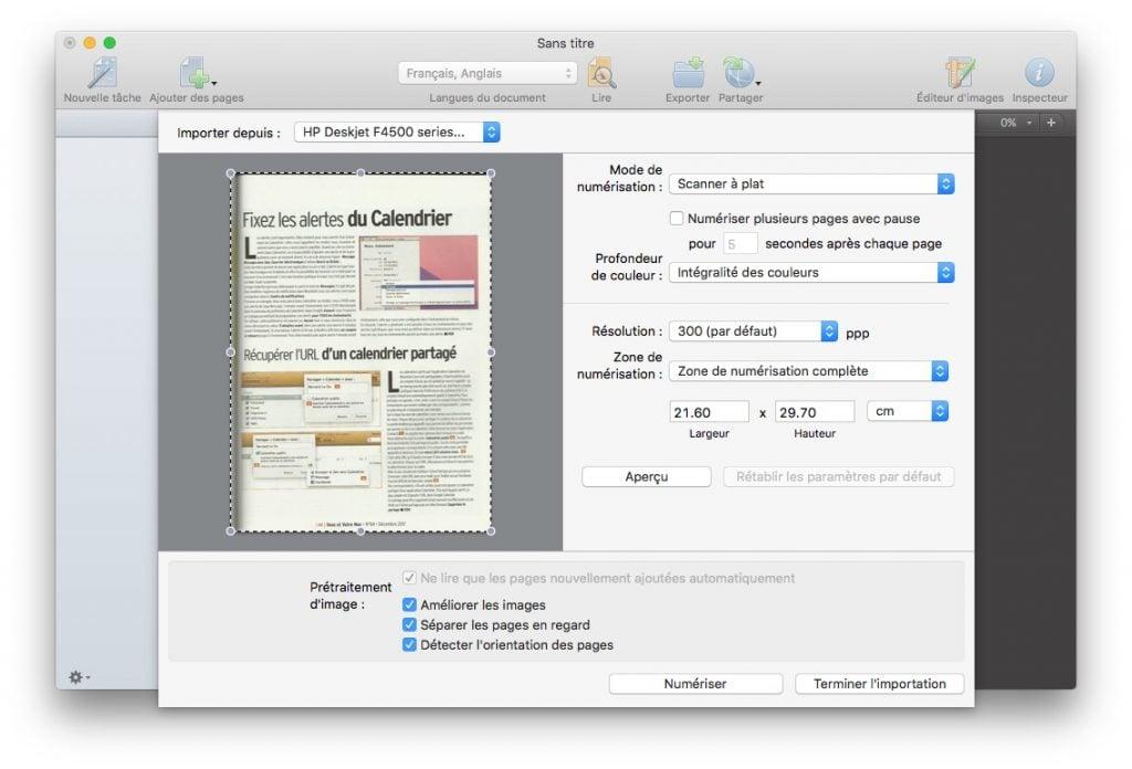 scanner sur mac et exporter en pdf