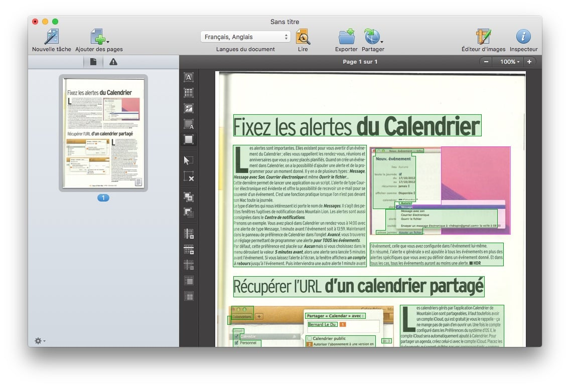 scanner sur mac texte ou image